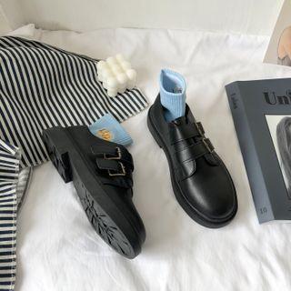 Stevvi - Platform Block Heel Loafers