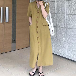 Mimihouse - 短袖襯衫中裙
