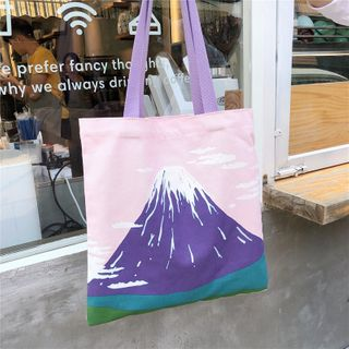 Milha - Plaid Canvas Tote Bag