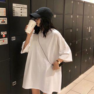 Cottonoir - 宽松中袖T裇