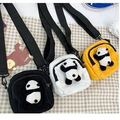 Mulgam - Panda Detailed Canvas Crossbody Bag