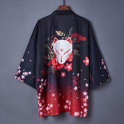 Esquerada - Fox Print Kimono Jacket