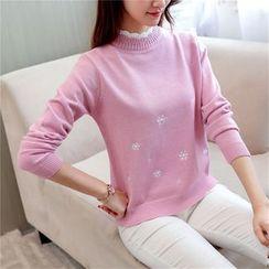 Penguin Island - Mock Neck Print Sweater