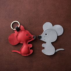 Carpaccio - Genuine Leather Mouse Key Chain