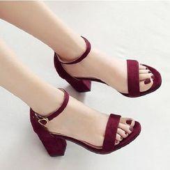 Freesia - 粗跟踝带凉鞋