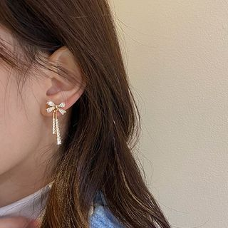 Show Mind - Bow Drop Earring