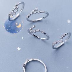 A'ROCH - 925純銀水鑽星座開口戒指