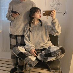 Sisyphi - Couple Matching Fleece Pajama Set