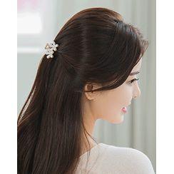 Miss21 Korea - Faux-Pearl Hair Claw