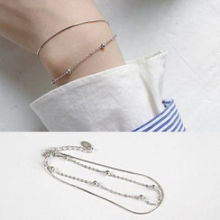 Phoenoa - 925 Sterling Silver Layered Bracelet