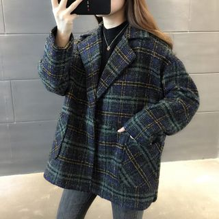 伊之戀 - 格子羊毛大衣