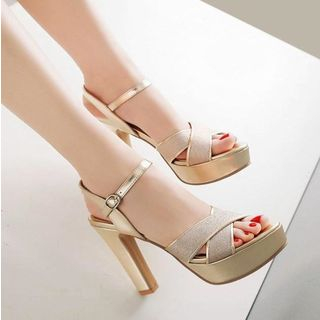Freesia - 粗跟厚底凉鞋