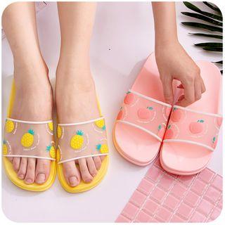 默默爱 - 水果印花浴室拖鞋