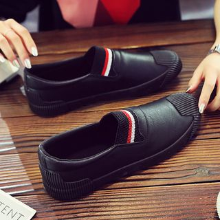 Solejoy - Faux-Leather Slip-Ons