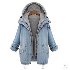 Frigga - 套裝: 連帽馬甲 + 牛仔外套