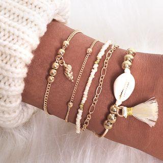 Yeoleum - Set of 5: Retro Shell Bracelet (assorted designs)
