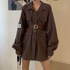 Beauvoir - Long Sleeve Cargo Shirtdress