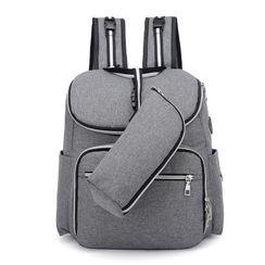 Golden Kelly - Square Nylon Backpack