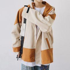 Fella - Color Block Hooded Zip Jacket