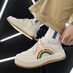 Tanzanite - Rainbow Platform Sneakers