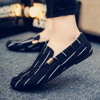 B-Z - Piped Canvas Loafers