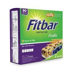Three O'Clock - Fitbar Crispy Rice Bar with Raisins (90 calories) 24g x5