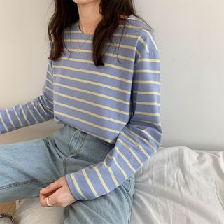 Hello Lucy - Striped Long-Sleeve T-Shirt