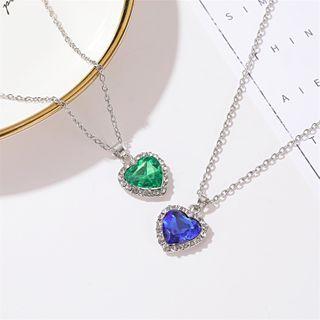 Cheermo - Rhinestone Heart Necklace