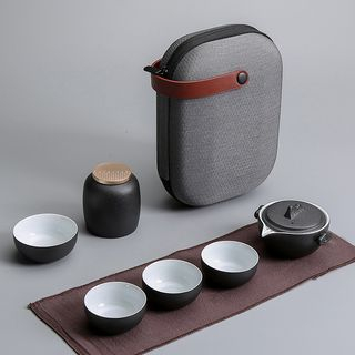 Pagala - 套裝: 旅行陶瓷茶壺 + 茶杯