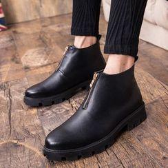 WeWolf - 厚底扣踝带拉链靴