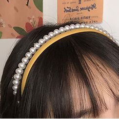 Cuivre - 三件套裝: 仿珍珠 / 波浪 / 純色頭帶
