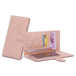 Tambrae - 字母仿皮長款旅行護照包