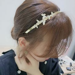 True Glam - Alloy Rhinestone Butterfly Headband