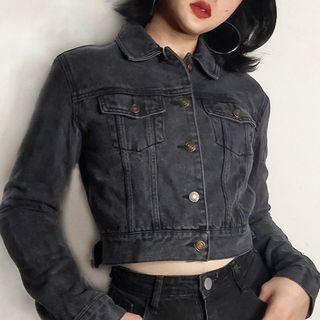 FIFTH GIRL - Denim Cropped Jacket