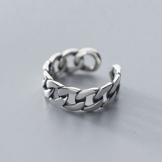 A'ROCH - 925 Sterling Silver Open Ring in Chain Design