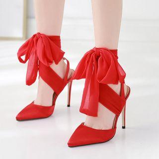 安若 - 系带高跟凉鞋