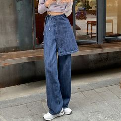 monroll(モンロール) - Wide Leg Jeans with Cover-Up