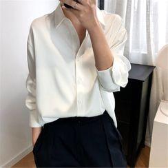 MARION(マリオン) - Long Sleeve V-Neck Shirt