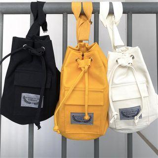 Porstina(ポルスティナ) - Drawstring Crossbody Bucket Bag