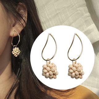 Kokyu - Wooden Bead Dangle Earring