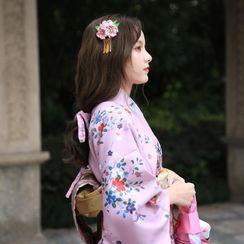 Blossom Breeze - Flower Print Kimono Costume