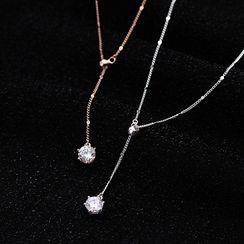 A'ROCH - Rhinestone Pendant Necklace