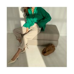 NANING9 - Relaxed-Fit Cotton Pants