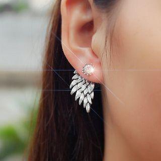 Ignar - Rhinestone Wing Earrings