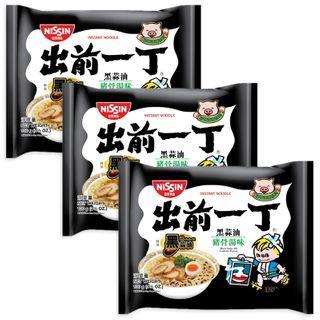 Nissin - 出前一丁黑蒜油猪骨汤味 (3包)