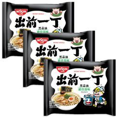 Nissin - 出前一丁黑蒜油豬骨湯味 (3包)