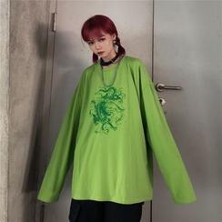 2DAWGS - Dragon Print Oversized T-Shirt