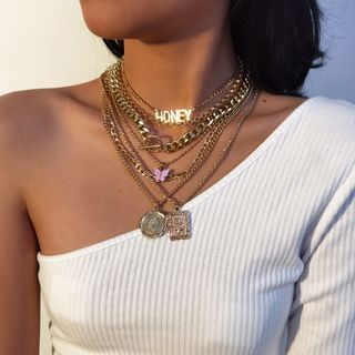 Seirios - Set of 7: Layered Chain Necklace