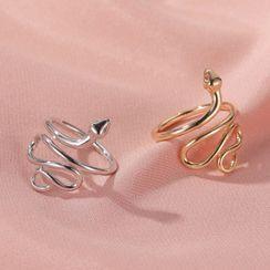 Mulyork - 合金蛇开口戒指