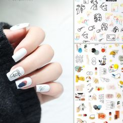 WGOMM - Print Nail Art Stickers